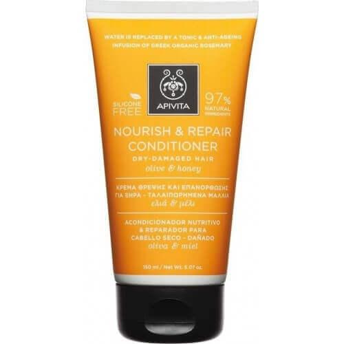 Apivita Nourish Repair Contitioner για Ξηρά Μαλλιά με Ελιά & Μέλι 150ml