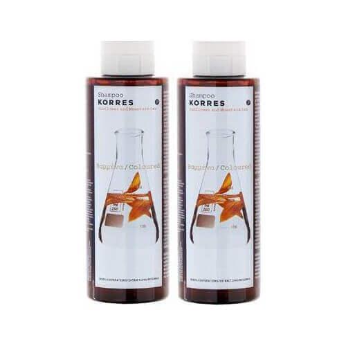 Korres Σαμπουάν Για Βαμμένα Μαλλιά με Ηλίανθο & Τσάι του Βουνού 2x250ml