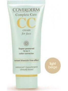 Coverderm Complete Care CC Cream for Face SPF25 Light Beige 40ml