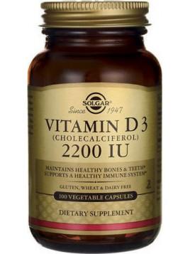 Solgar D3 2200 IU (Cholecalciferol) 100 φυτικές κάψουλες
