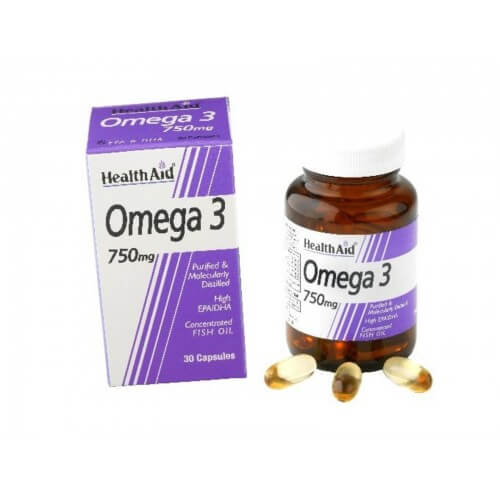 Health Aid Omega 3 750mg 60 κάψουλες