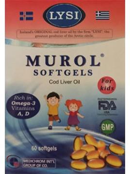 Medichrom Murol Μουρουνέλαιο για Παιδιά 60 μαλακές κάψουλες