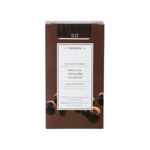 Korres Argan Oil Advanced Colorant 5.0 Καστανό Ανοιχτό Φυσικό