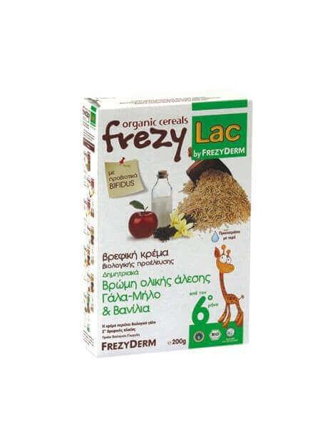 Frezyderm Frezylac Βρώµη Ολικής Άλεσης Γάλα-Μήλο και Βανίλια 200gr