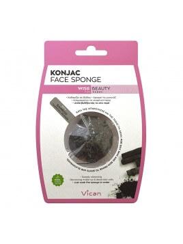 Vican Konjac Face Sponge Σφουγγάρι Προσώπου με Σκόνη Άνθρακα Bamboo 1 Τμχ.