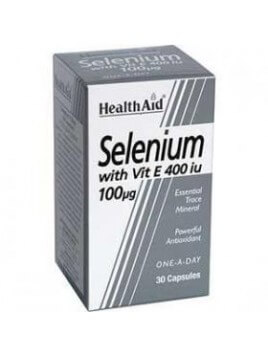 Health Aid Selenium 100mg & Vitamin E 30 κάψουλες