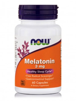 Now Foods Melatonin 3mg 60 κάψουλες
