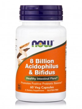 Now Foods Acidophilus/Bifidus 8 Billion 60 κάψουλες