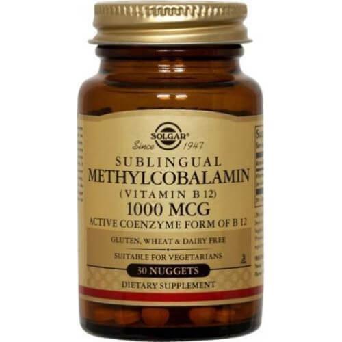 Solgar B-12 Methylcobalamin Nuggets 1000mcg 30 υπογλώσσια δισκία