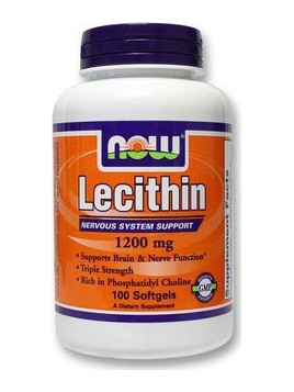 Now Foods Lecithin 1200mg 100 μαλακές κάψουλες