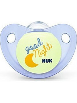 Nuk Trendline Night & Day Σιλικόνης Μπλε Φεγγάρι 0-6m 1τμχ