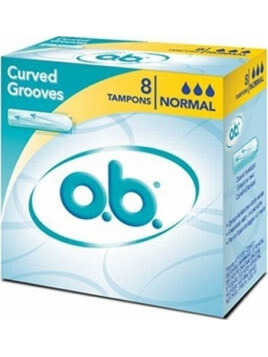 O.B. Original Curved Grooves Normal 8τμχ