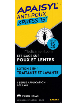 Apaisyl Anti-Poux Xpress 15' 100ml