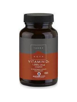TerraNova Vitamin D3 1000iu Complex 50 φυτικές κάψουλες