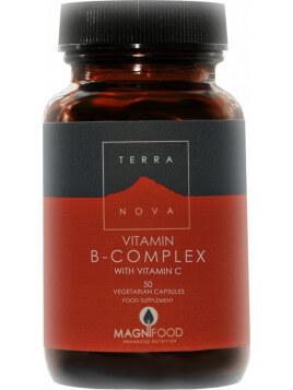 TerraNova Vitamin B-Complex With Vitamin C 50 φυτικές κάψουλες
