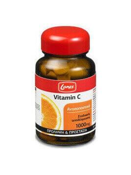 Lanes Vitamin C 1000mg Σταδιακής Αποδέσμευσης 30 tabs