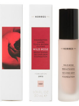 Korres Rose Brightening Second-Skin Foundation SPF15 WRF1 30ml