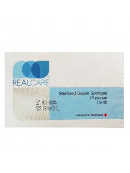 Real Care Αποστειρωμένες κομπρέσες γάζης 15x30cm 12τμχ