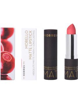 Korres Morello Matte Lipstick 49 Watemelon Sorbet