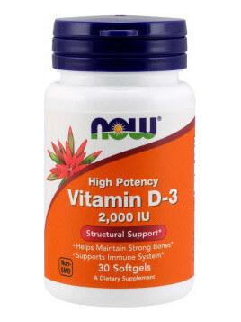 Now Foods Vitamin D3 2000iu 30 μαλακές κάψουλες