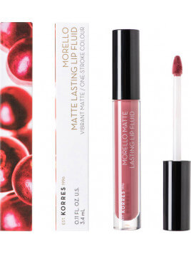 Korres Morello Matte Lasting Lip Fluid 10 Damask Rose