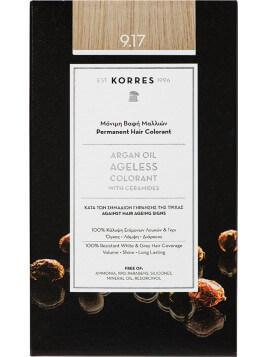 Korres Argan Oil Ageless Colorant Νο 9.17 Κατάξανθο Ανοιχτό Μπεζ
