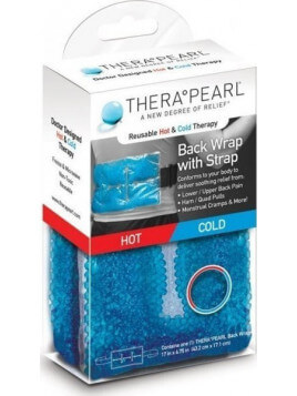 TheraPearl Hot & Cold Therapy Back Wrap with Strap