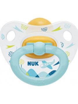 Nuk Classic Happy Kids Καουτσούκ 18-36m Mint Plane 1τμχ