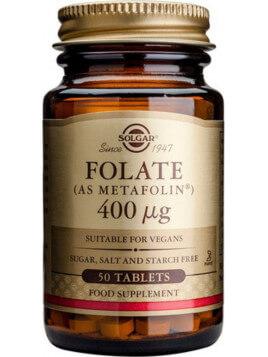 Solgar Folate as Metafolin 400mg 50 ταμπλέτες