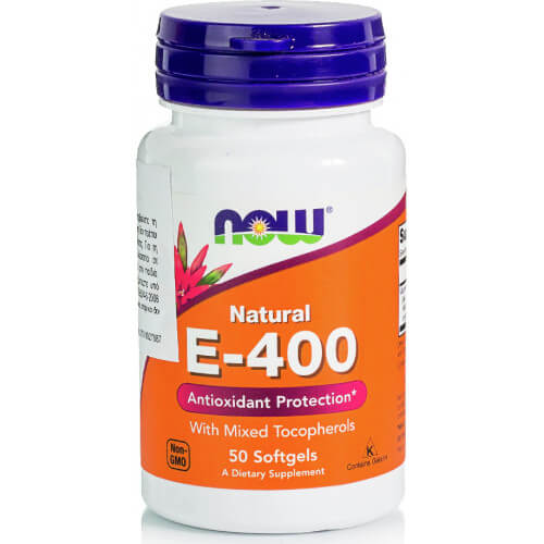 Now Foods E-400IU Mixed Tocopherols Unesterified 50 μαλακές κάψουλες