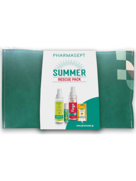 Pharmasept Summer Rescue Pack Insect lotion 100ml, SOS After Bite 15ml, Flogo Instant Calm Spray 100ml & Arnica Cream Gel 15ml