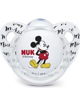 Nuk Trendline Mickey Σιλικόνης Άσπρη με Θήκη 0-6m 1τμχ