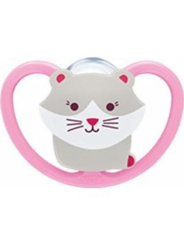 Nuk Space Σιλικόνης Pink Kitten 6-18m 1τμχ