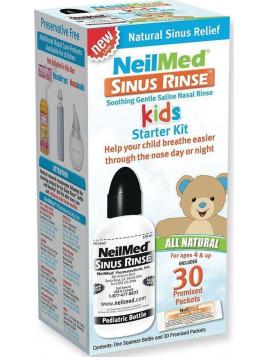 NeilMed Sinus Rinse Kids Starter Kit-Σύστημα Ρινικών Πλύσεων Για Παιδιά 1 Φιάλη & 30 Φακελίσκοι.