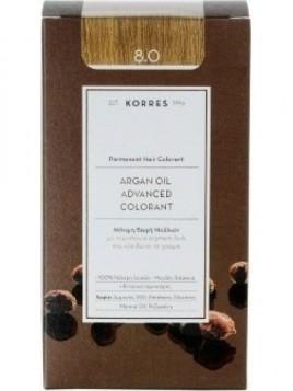 Korres Argan Oil Advanced Colorant 8.0 Ξανθό Ανοιχτό Φυσικό