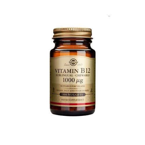 Solgar Vitamin B-12 1000mcg 100 υπογλώσσια δισκία
