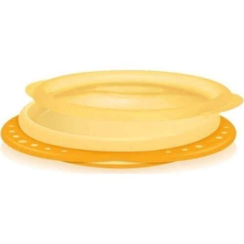 Nuk Easy Learning Πιάτο Με Καπάκι Κίτρινο, 8m+