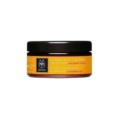 Apivita Μάσκα Θρέψης & Επανόρθωσης για Ξηρά/Αφυδατωμένα Μαλλιά με Αμύγδαλο & Μέλι 200ml (Pot)